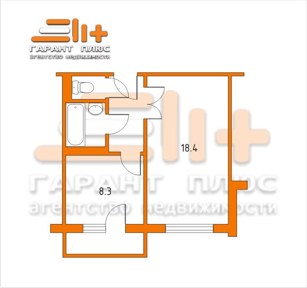 Ремонт однокомнатной квартиры 40 метров, перепланировка
