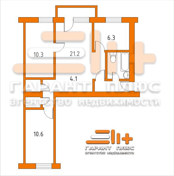 Хрущёвка планировка 4 комнатная фото
