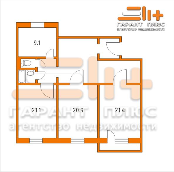 3-х комнатная квартира